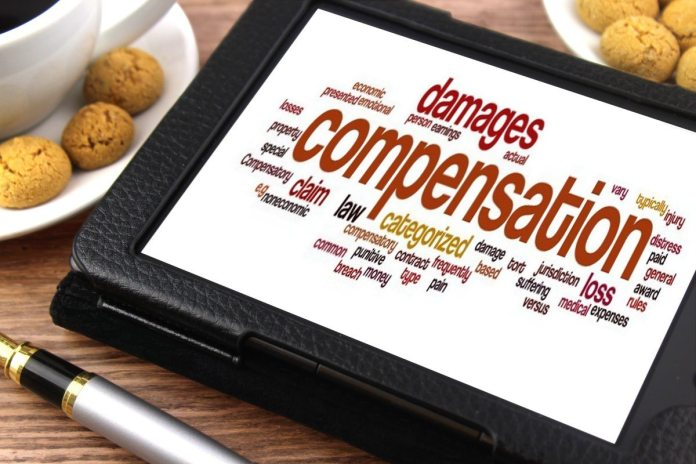 compensation word graphic