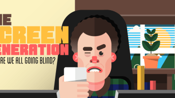 Stop Staring And Start Blinking! [Infographic] 2