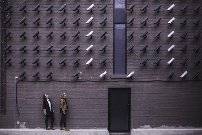 people standing in street