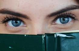 eyes over book