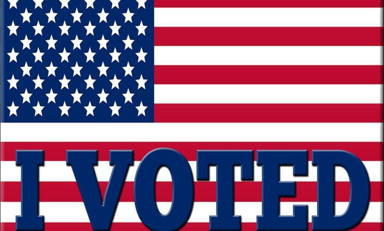 US flag - I voted