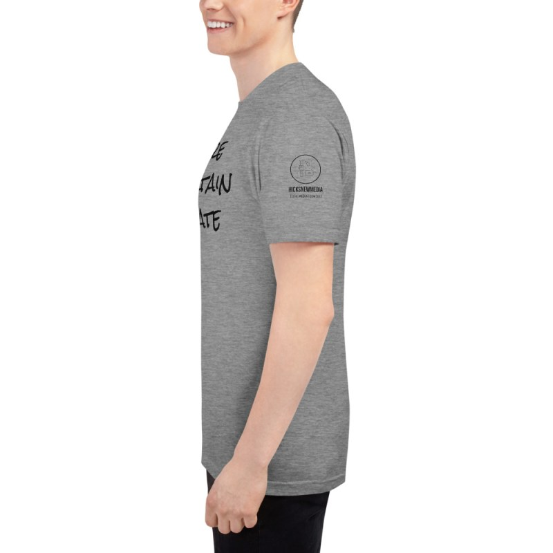 Inspire | Entertain | Educate Unisex Tri-Blend Track Shirt 8