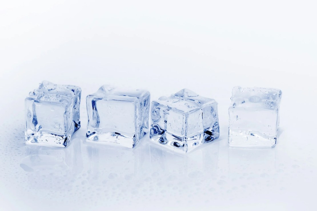 Ice Cube treatment for acne