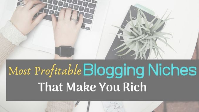 10 most profitable blogging niche that make you rich