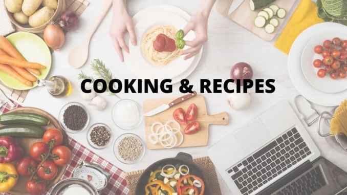 cooking and recipes blogging niche