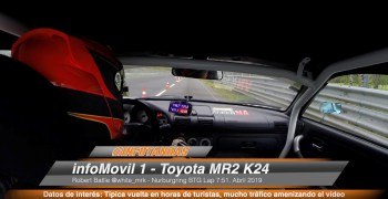 Video - Vuelta en Nurburgring con el infoMovil 1. Toyota MR2 K24