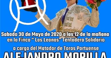 Tentadero solidario de Alejandro Morilla en la ganadería de Hermanos Lavi Ortega