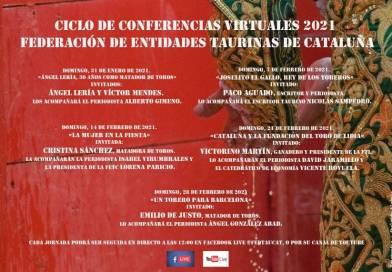 La Federación de Entidades Taurinas de Cataluña organiza un ciclo de conferencias virtuales