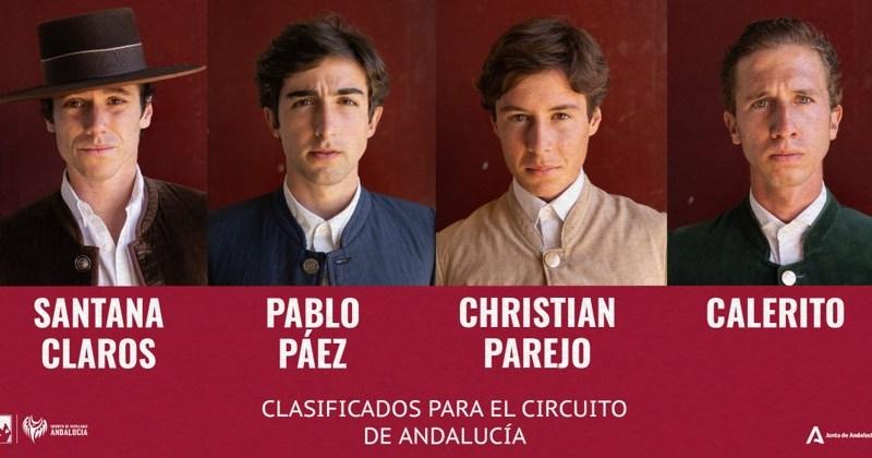 """Los cuatro primeros novilleros del Circuito de Andalucía reciben """"La Llamada de la Liga"""""""