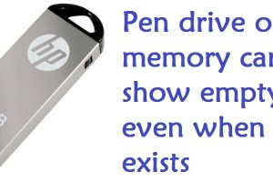 Pen drive data hidden