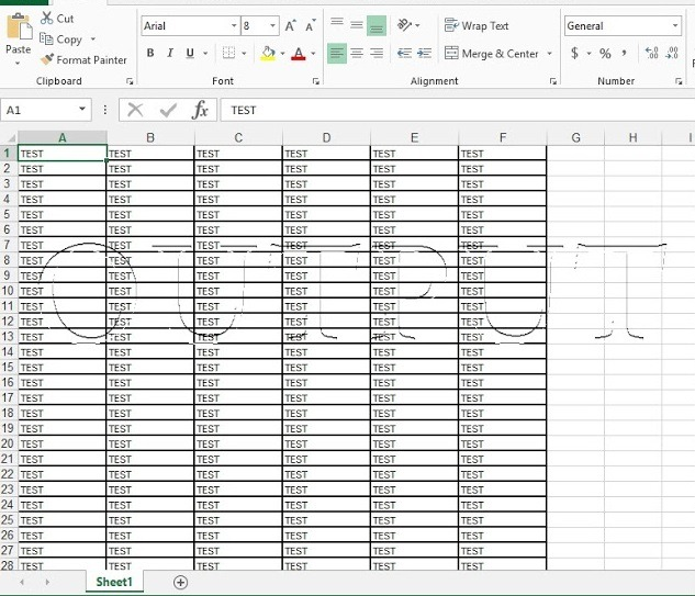 Output excel file (pdf to excel)