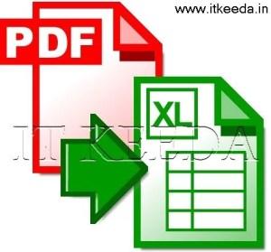 pdf to exel