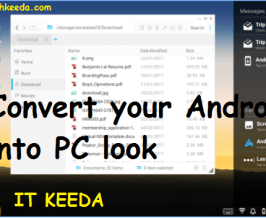 Convert your Android into PC look