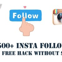 500+ Free Instagram followers in a day free hack Without survey | Trick
