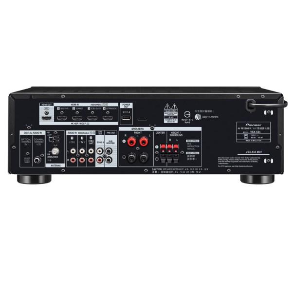 Receiver 5.2 Canais Bluetooth Hmdi 4K Vsx-534 Pioneer