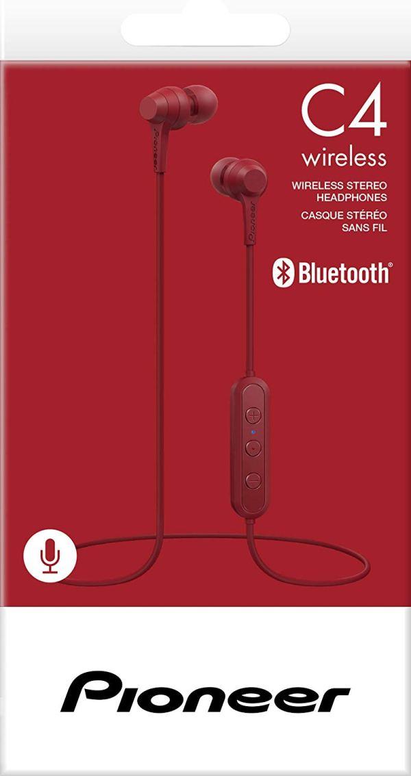 Fone De Ouvido Pioneer Wireless SE-C4BT-R - Vermelho