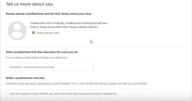 Upwork tell more about you on best freelancing site