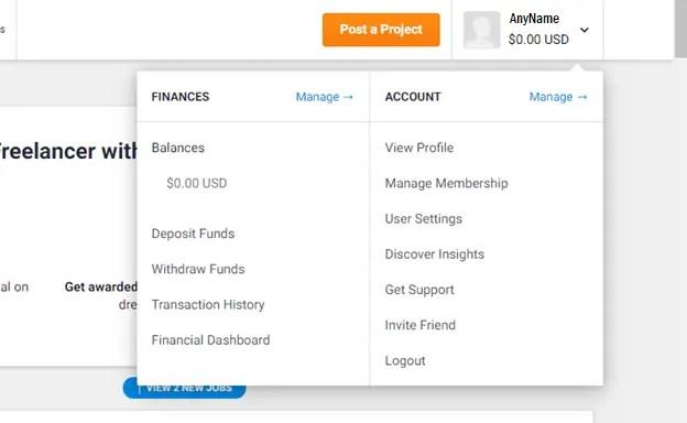 freelancer.com dashboard best freelancing site