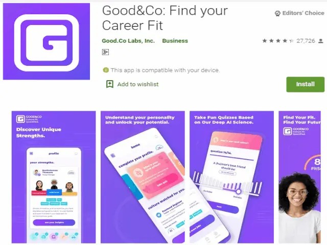 Good&Co Find your Career Fit Best top job search apps