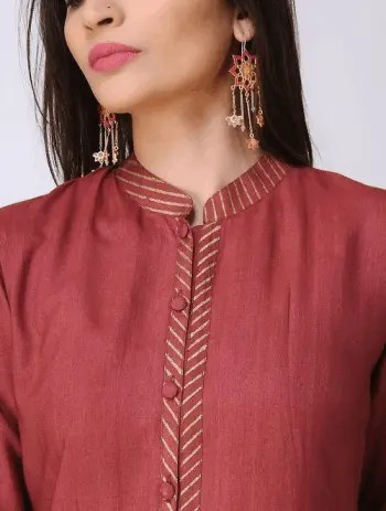 Latest Kurti Neck Designs for Your Gorgeous Look High Neck Design