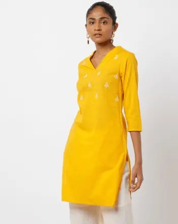 Latest Kurti Neck Designs for Your Gorgeous Look V-neck Design