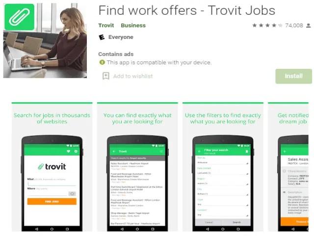 Find work offers - Trovit Jobs Best job search apps