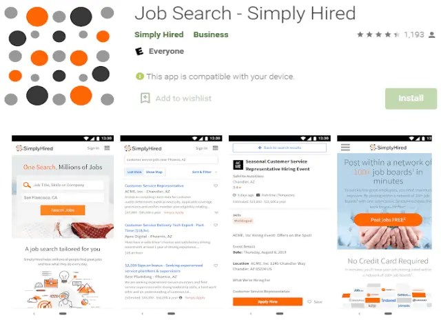 Job Search - Simply Hired Best job search apps