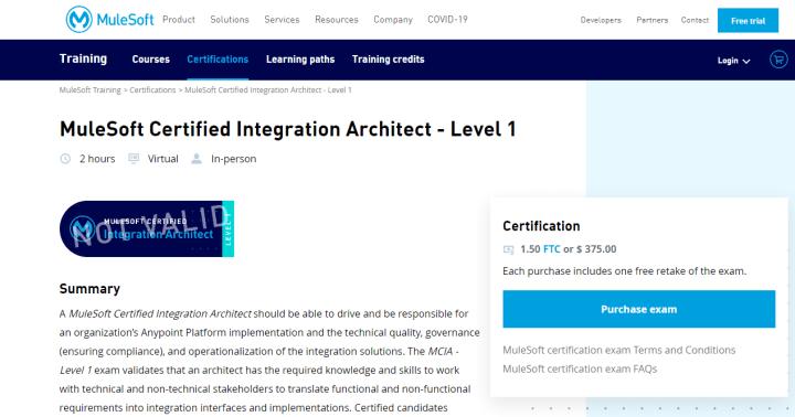 MuleSoft Certified Integration Architect - Level 1