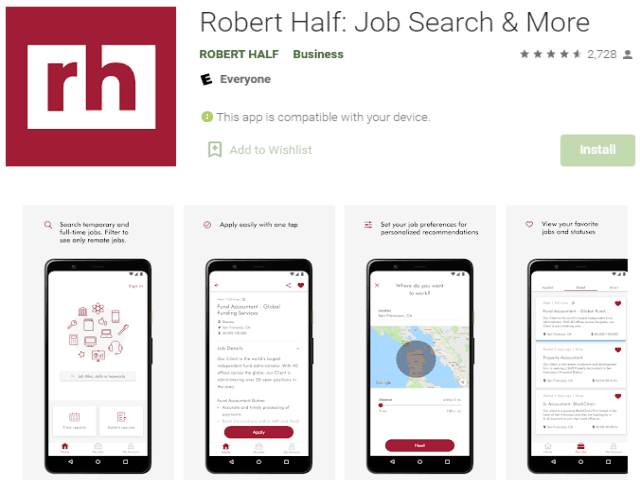 Robert Half Job Search & More Best job search apps