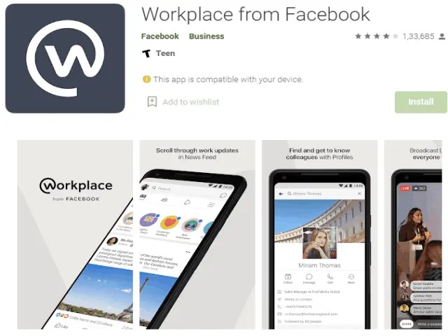Workplace from Facebook Best job search apps