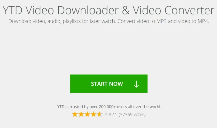 YTD Video Downloader & Video Converter and youtube to mp3 converter