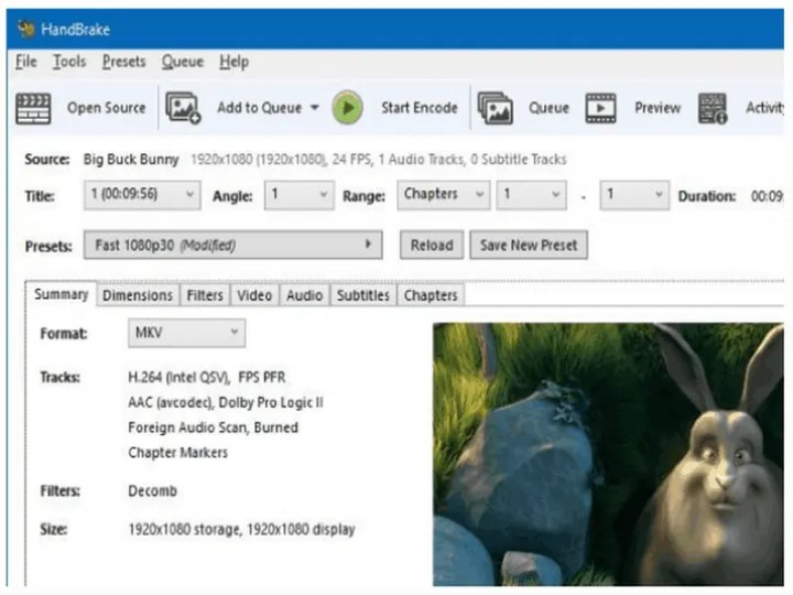 HandBrake The open source video transcoder Best DVD To MP4 Conversion Tool 1