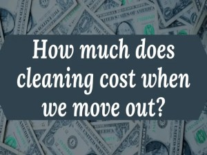 How much does cleaning cost when we move out