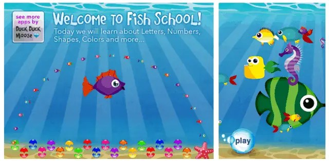 Best Educational Apps for Children 2021 – for Android and IOS Fish School by Duck Duck Moose