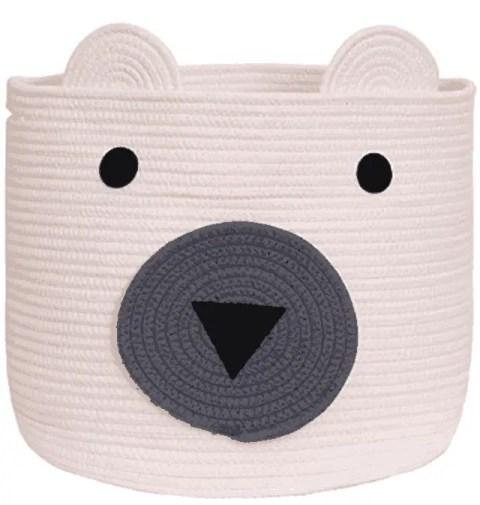 VK Living Bear Woven Storage Basket