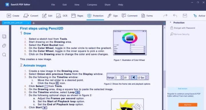 EaseUS PDF Editor Comment Option