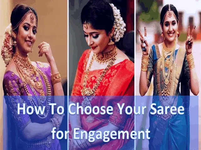 How To Choose Your Saree for Engagement