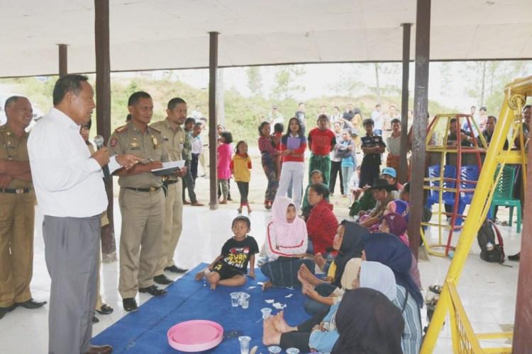 Bupati dan Wakil Bupati Toraja Utara melakukan kunjungan kerja ke kawasan Transmigrasi di Kecamatan Awan Rantekarua, Toraja Utara.