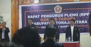 Rapat Pleno Pengurus Karang Taruna Toraja Utara dihadiri Wakil Ketua Karang Taruna Sulsel, Ahmad Syafar, Rabu (7/3/2018)