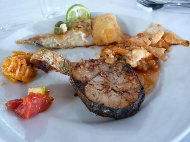 Comida en Restaurante Arante