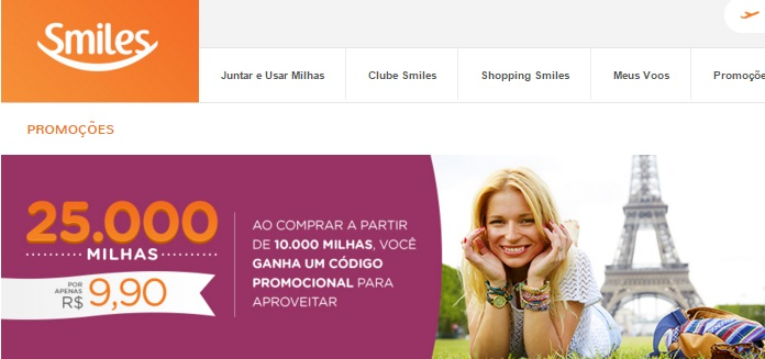 Smiles_25.000_Millas_R$9,9