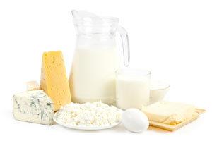 Молоко и любые молочные продукты
