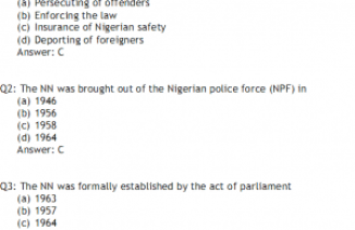 Nigeria Navy Past Questions