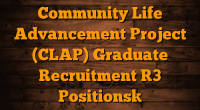 Community Life Advancement Project (CLAP)