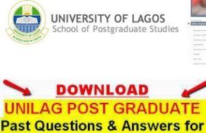 Unilag Postgraduate Past Questions