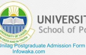 Unilag Postgraduate Admission Form 2018
