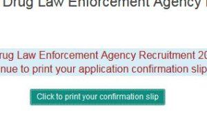 NDLEA Recruitment Confirmation Slip 2019