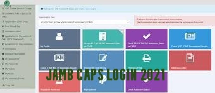JAMB CAPS Login 2021