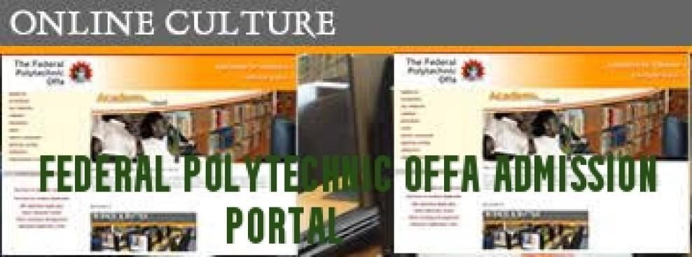 Federal Polytechnic Offa Admission Portal