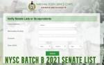 NYSC Batch B 2021 Senate List- Check Senate List Here